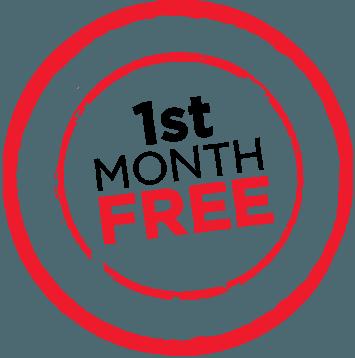 1st Month Free